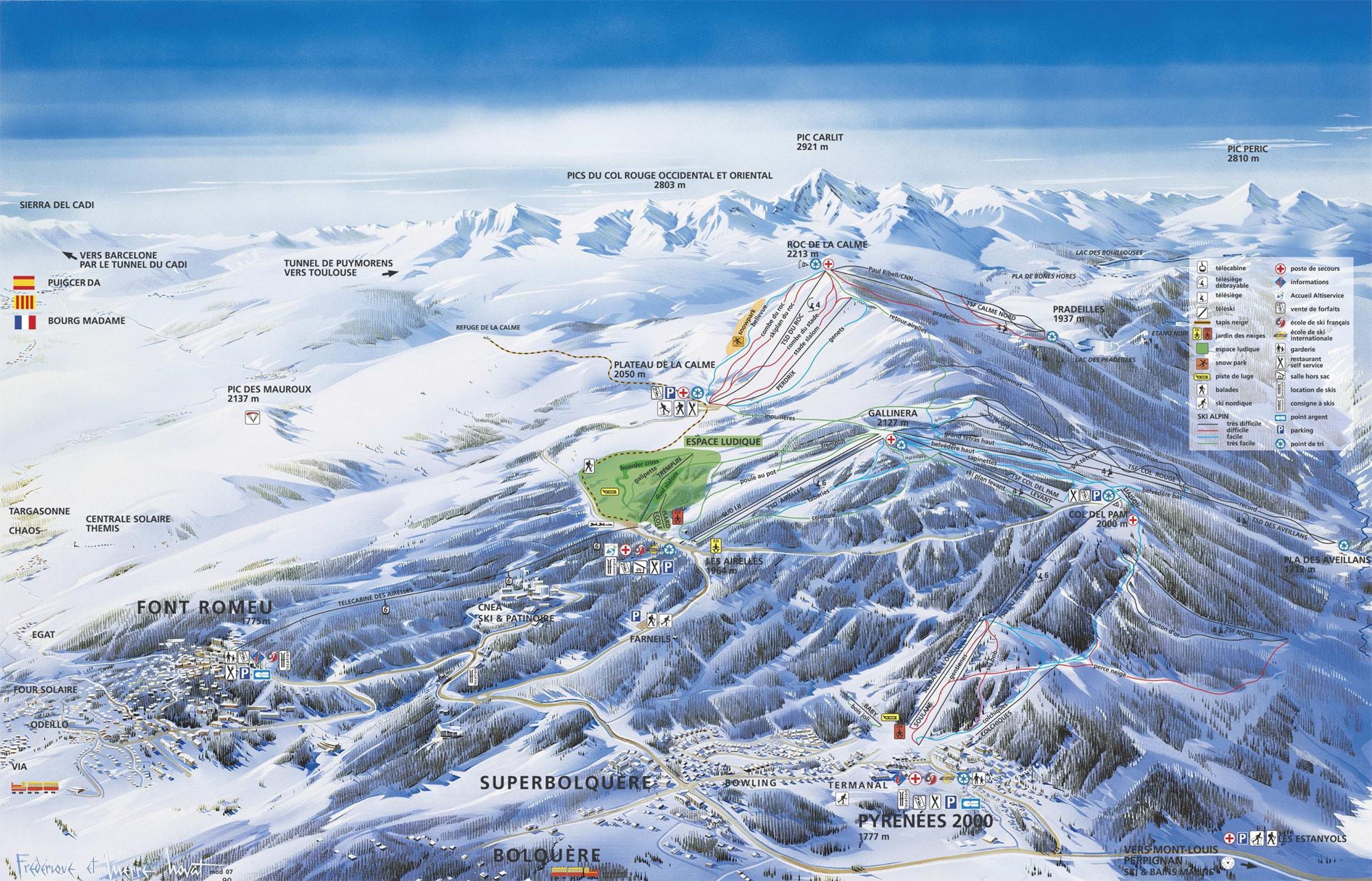 Vivre des moments forts dans le domaine skiable pyrénéesTélécopie pleine page