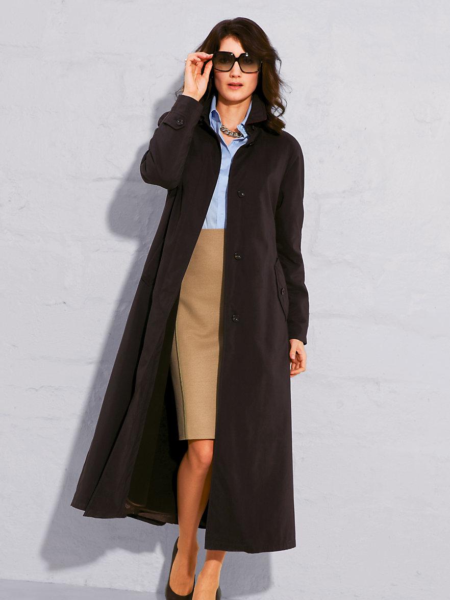 Un long manteau pour une présentation chic