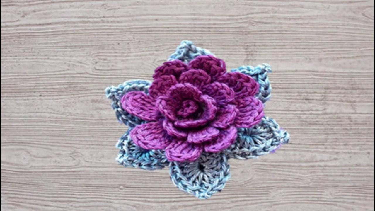 Comment faire une fleur au crochet - Faire une fleur ...